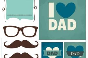 Adesivi, tag e biglietti da stampare per la festa del papà
