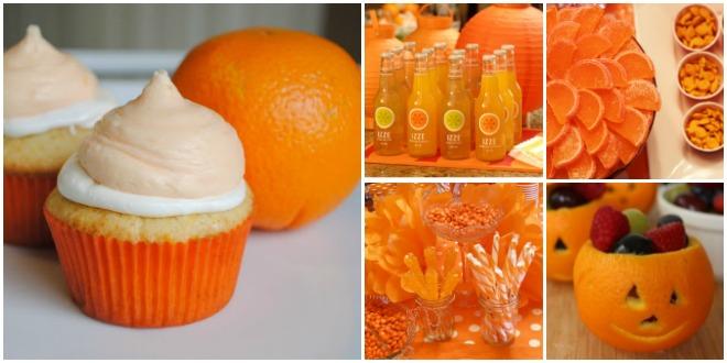 festa-a-tema-arancione-buffet