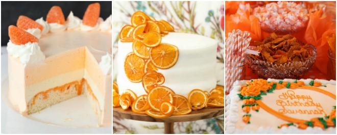 festa-a-tema-arancione-torta