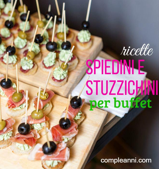 Conosciuto Ricette di spiedini e stuzzichini per buffet | Feste e compleanni YQ45