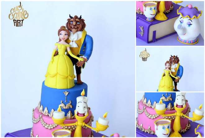 Festa a tema la bella e la bestia beauty and the beast for Decorazioni torte la bella e la bestia